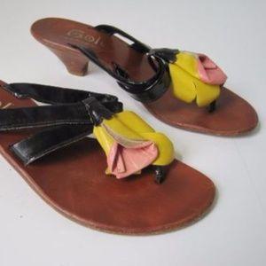 Womens Shoes Sz 5 Heels Sandals Thong Rapisardi
